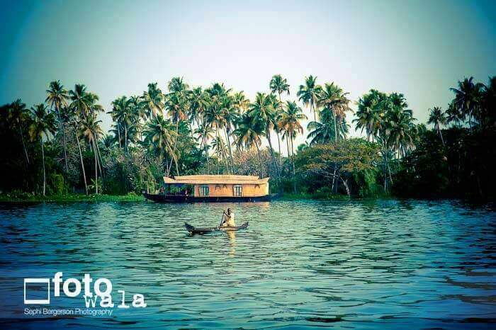 A destination wedding in the backwater in Kerala_