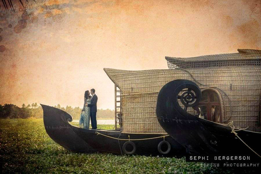 Destination Wedding In Kerala at Kumarakom Lake | Sylvie & Aaron