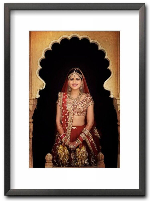 fine art print of a beautiful Indian bride