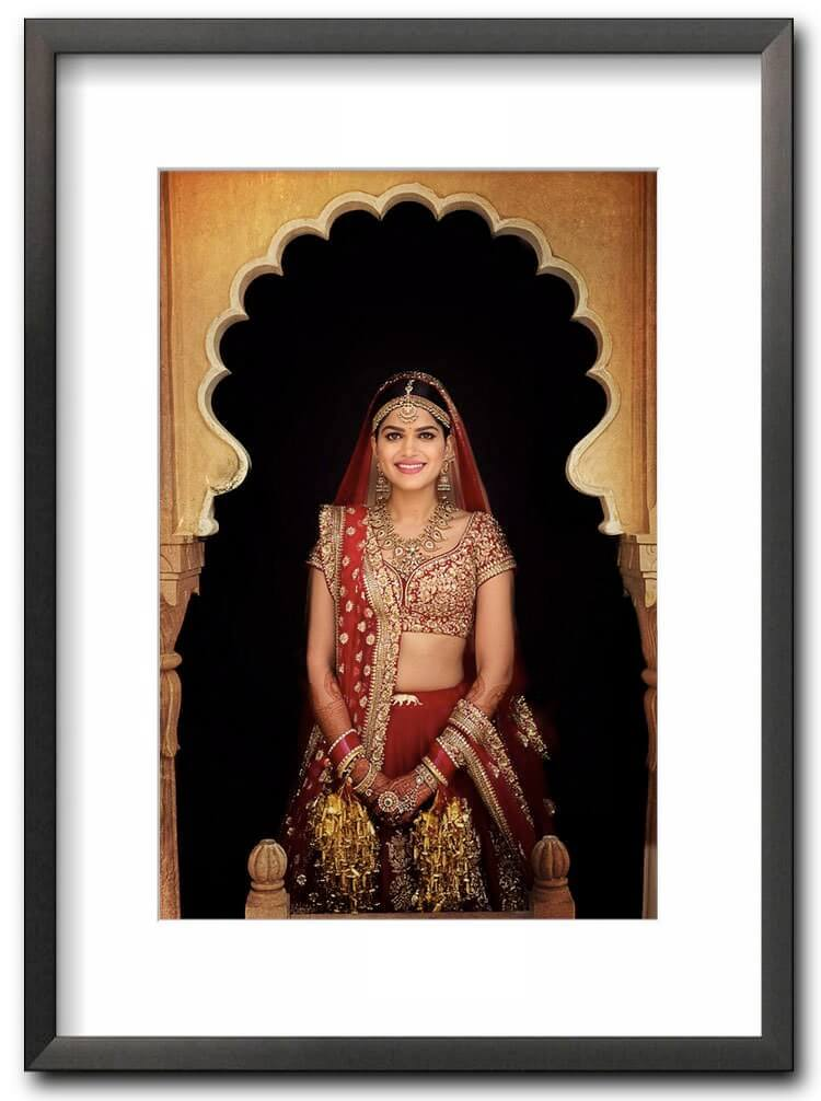 fine art print of a beautiful Indian bride