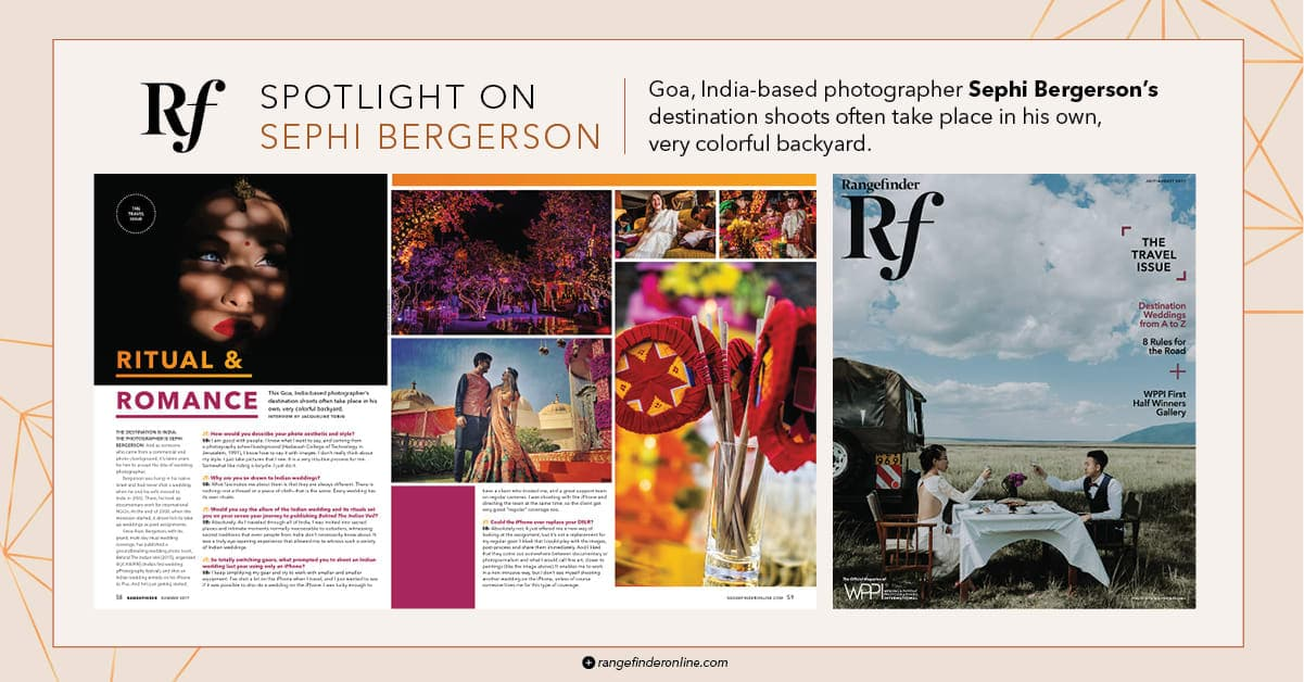 wedding photographer feature Rangefinder magazine